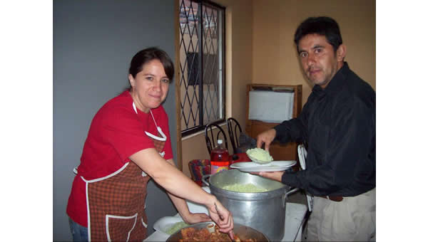 Mireya & Luis at a Youth Group event