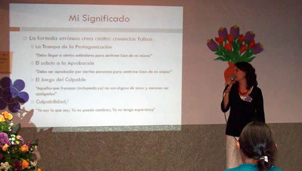 Rachel leads a woman's conference in Cuenca, Ecuador