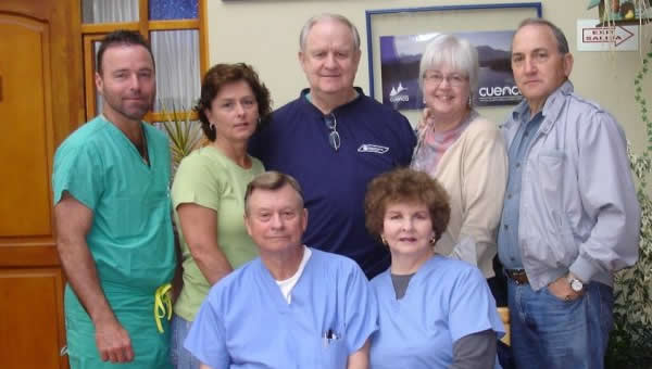A team of doctors and nurses for a medical mission trip in 2008.